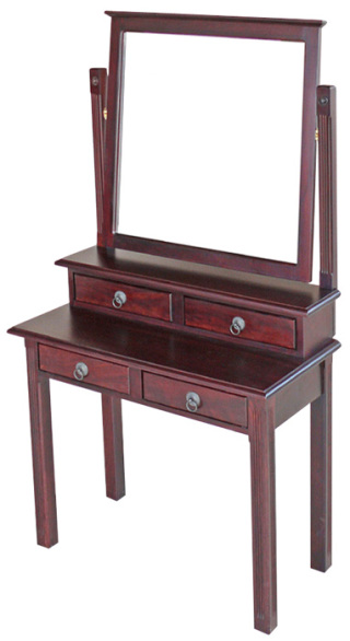 Candice Dressing Table with hutch and large mirror