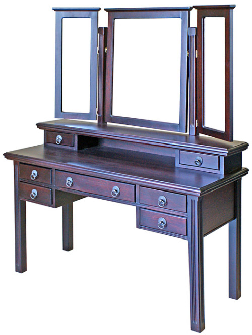 Lauren Dressing Table with hutch and 3 mirrors