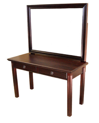 Joy Dressing Table no hutch with large mirror attached