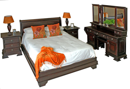 Sleigh Bed without Footboard