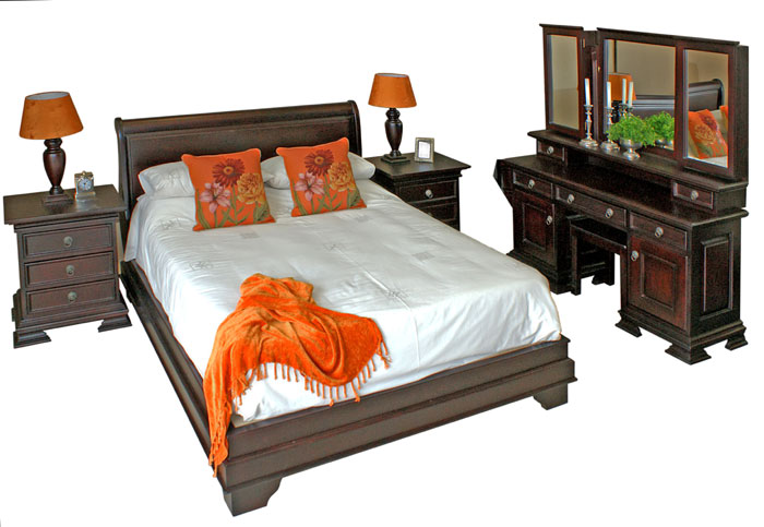 Sleigh Bed Detail No Footboard Vryheid Country Furniture