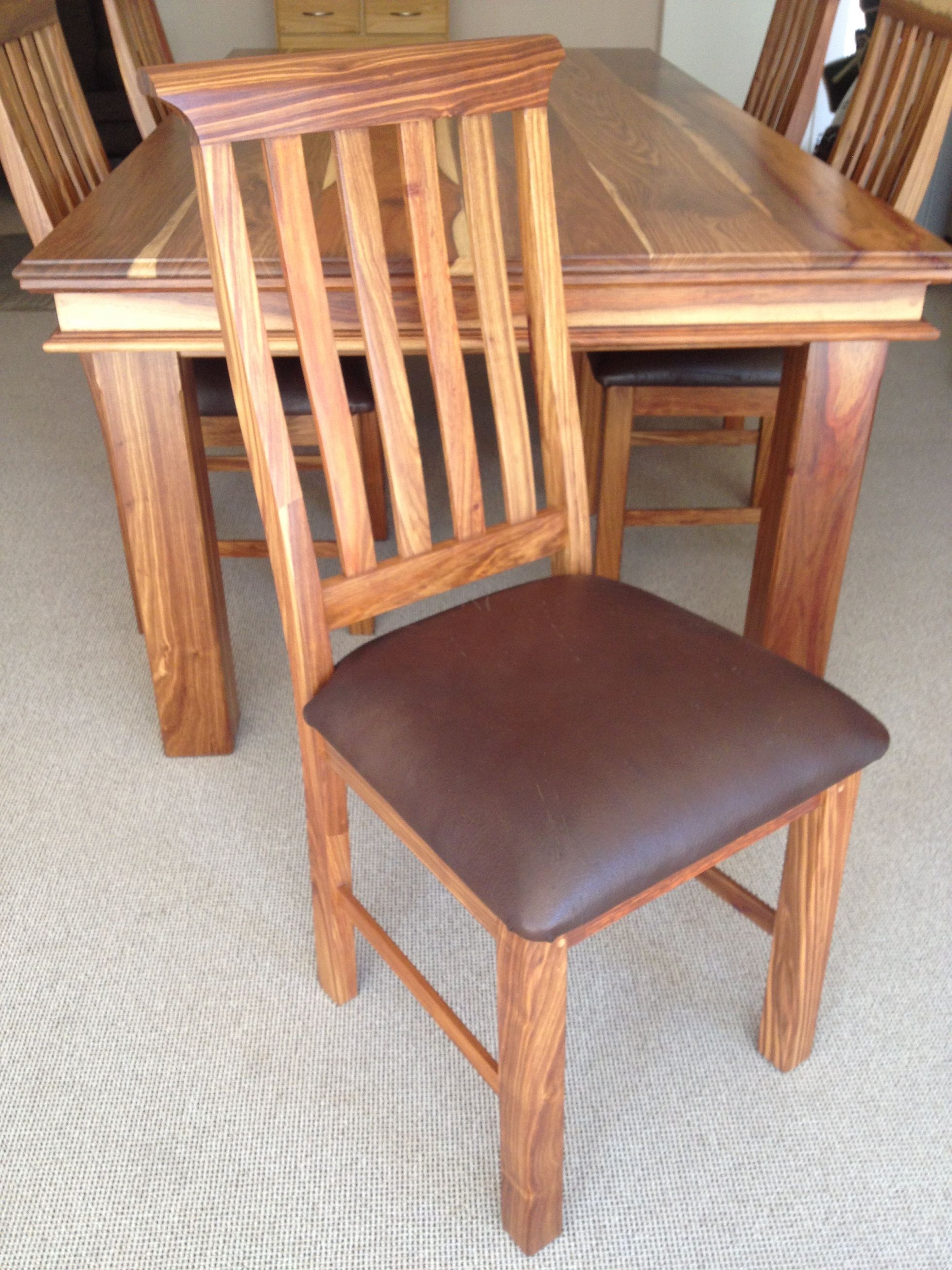 side chairish dining product straight chair chairs leg chippendale hickory mahogany pair a