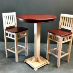 Bar Table with Stools 2 tone
