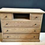 Chest with open shelf