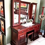 Dressing Table Jason No hutch, Side Cubs