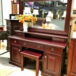 Dressing Table Megan Normal Hutch Large Mirror